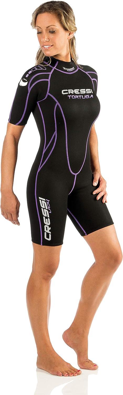 Combinaison de Plong/é Shorty Premium N/éopr/ène pour Femme Cressi Playa Lady Shorty Wetsuit 2.5 mm