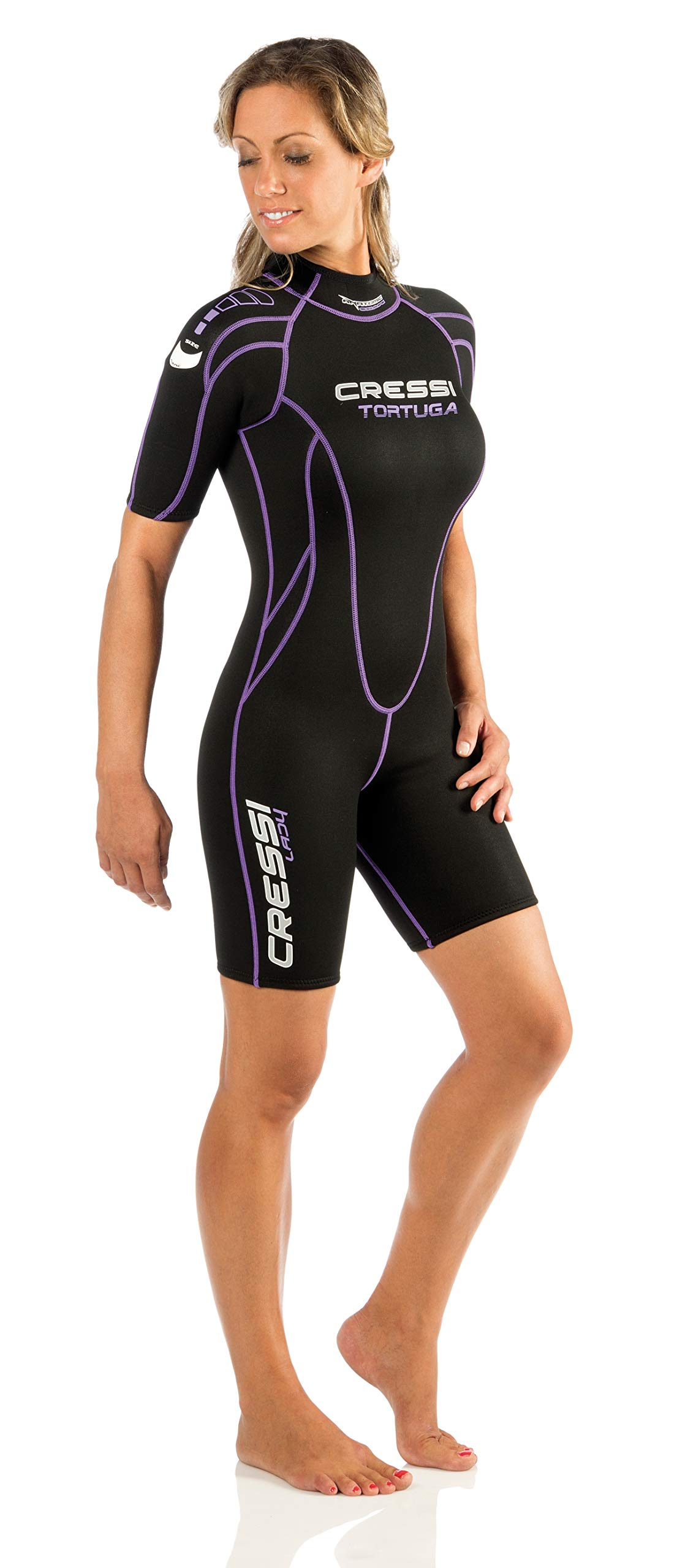 Cressi Tortuga 2.5mm Lady, black/lilac, 1/XS by Cressi