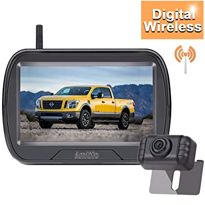 AMTIFO W3 HD 720P Digital Wireless Backup Camera Kit,Rear View Hitch Camera with 4.3'' Monitor for Cars, Pickups,Trucks,Campers,Small RVs,Adjustable Rear/Front View,IP69 Waterproof: Car Electronics