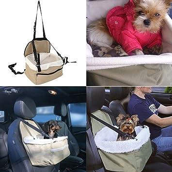 con Cintur/ón de Seguridad y Bolsa de Almacenamiento para Perros y Gatos Minve Asiento de Coche para Mascotas Plegable y Resistente al Agua
