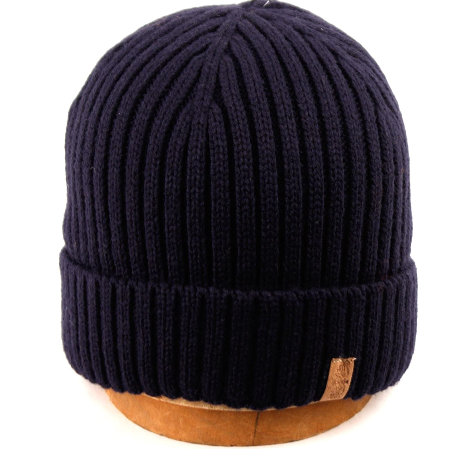 58dac7d6229 Bn1921 Polo Style Knit Beanie Cuff Hat (BLACK) at Amazon Men s Clothing  store