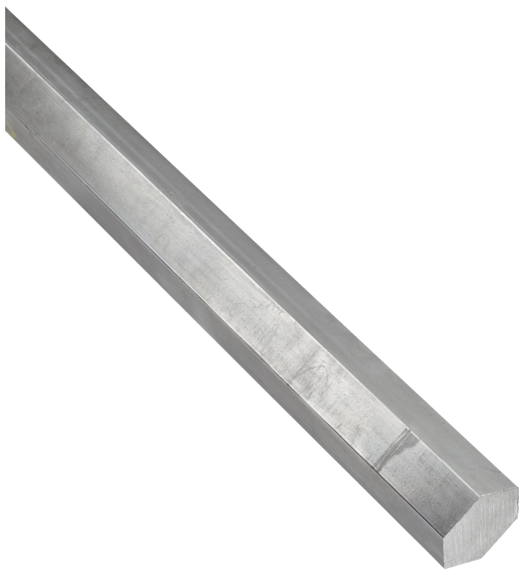 316L Stainless Steel Hex Bar, Unpolished (Mill) Finish 7/16'' Across Flats, 36'' Length by Small Parts