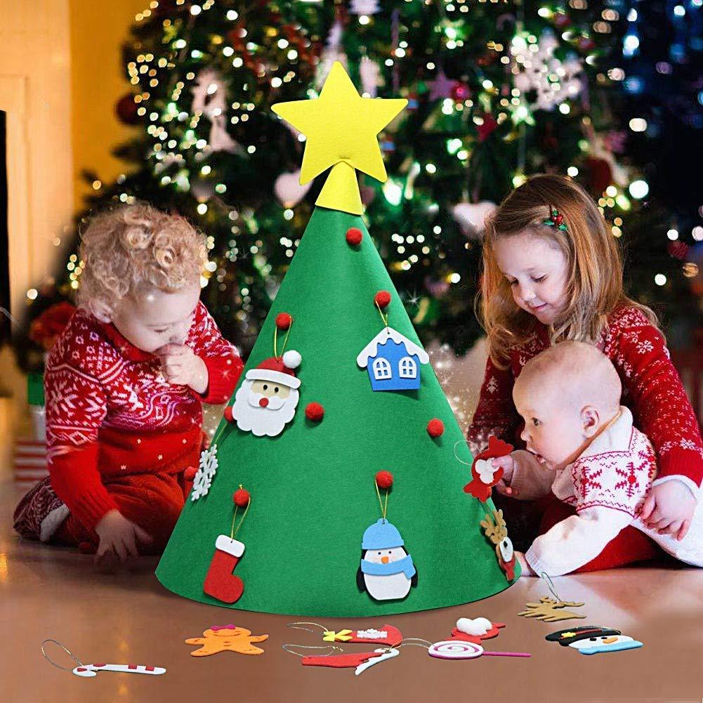 takefuns diy felt christmas tree ornaments toddler friendly christmas tree detachable ornaments kids xmas gifts christmas