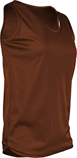 product image for TR-903W-CB Women's Athletic Single Ply Solid Color Light Weight Track Singlet (Medium, Texas Orange)