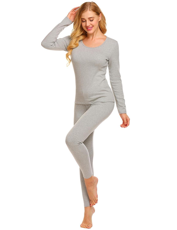 adca265cacb2 Women Ekouaer Womens Long Thermal Underwear Fleece Lined Winter Base  Layering Set EK001552 Lingerie, Sleep & Lounge