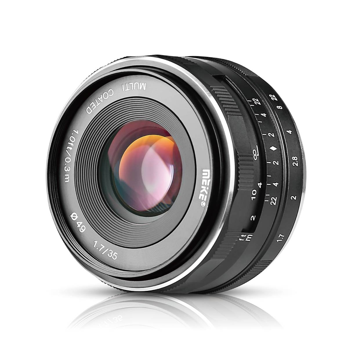 Meike MK-E-35-1.7 35mm F1.7 Large Aperture Manual Prime Fixed Lens APS-C for Sony E-Mount Digital Mirrorless Cameras A7III A9 NEX 3 3N 5 NEX 5T NEX 5R NEX 6 7 A6400 A5000 A5100 A6000 A6100 A6300 A6500 by Meike