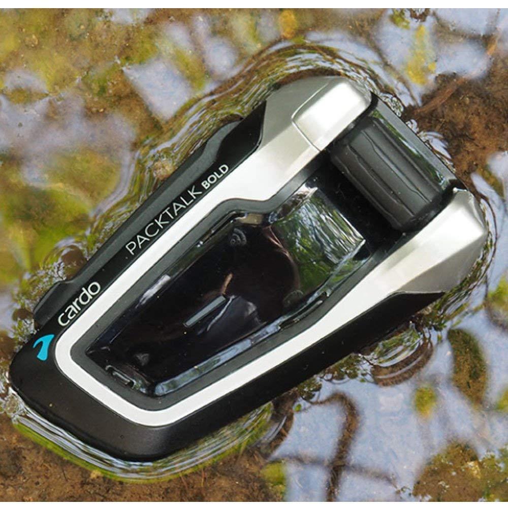 Cardo PTB00101 kit Main Libre Bluetooth Moto Duo Noir Set de 2