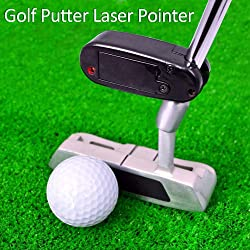 YEVIOR Black Golf Putter Laser Pointer Putting Training Aim Line Corrector Improve Aid Tool Practice Golf Accessories