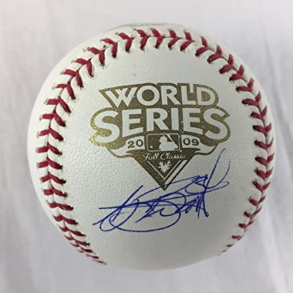 f8fc1afe4f1 AJ BURNETT SIGNED AUTOGRAPH 1990 WORLD SERIES BASEBALL STEINER MLB ...