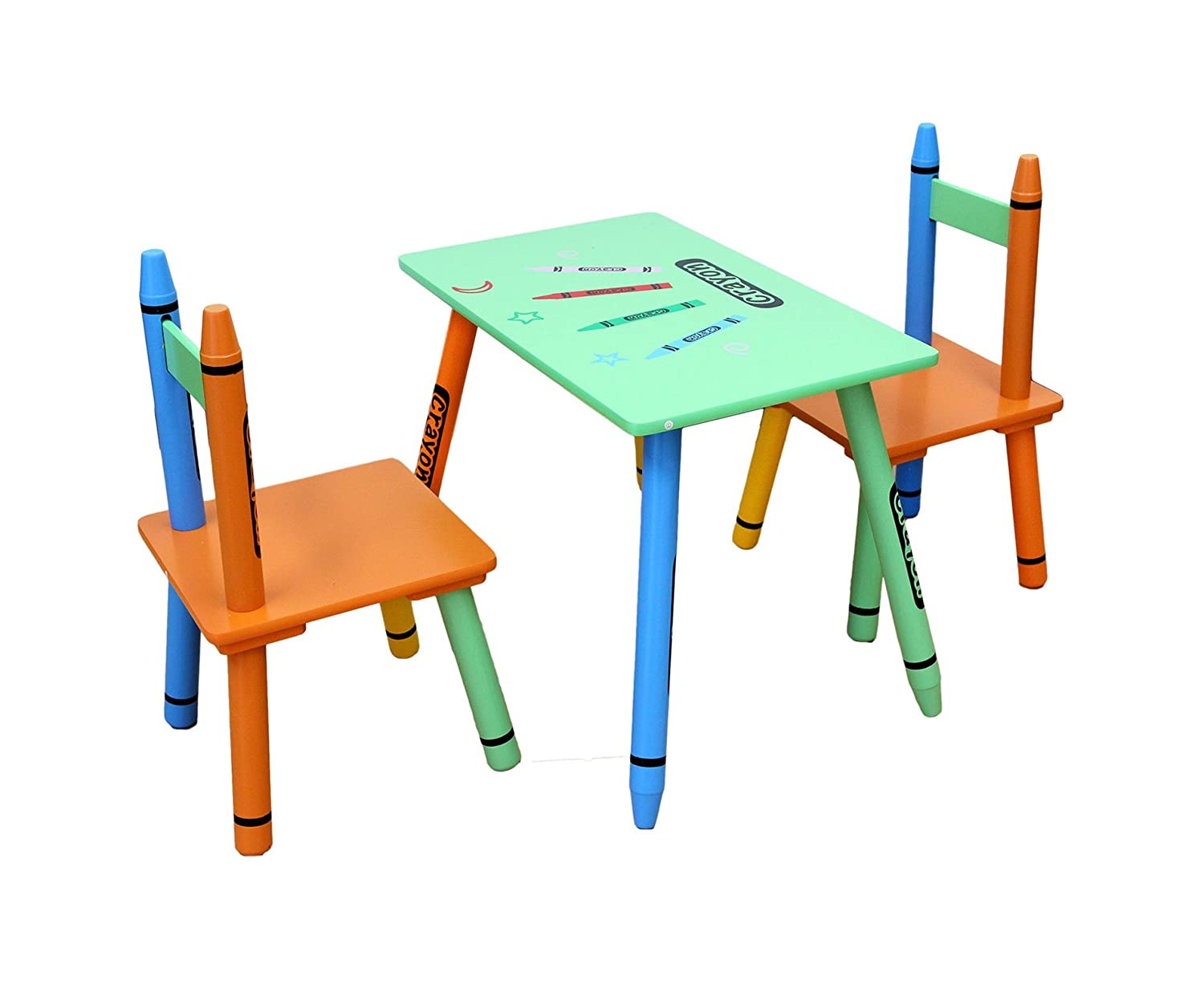 Childrens solid Wooden chairs and table set - Crayon Kids Furniture Bedroom Play Roos m Amazon.co.uk Kitchen u0026 Home  sc 1 st  Amazon UK & Childrens solid Wooden chairs and table set - Crayon Kids Furniture ...