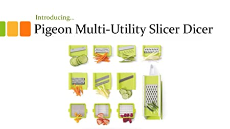 Pigeon Multi Utility Fruit and Vegetable Slicer Dicer (13) Graters & Slicers at amazon