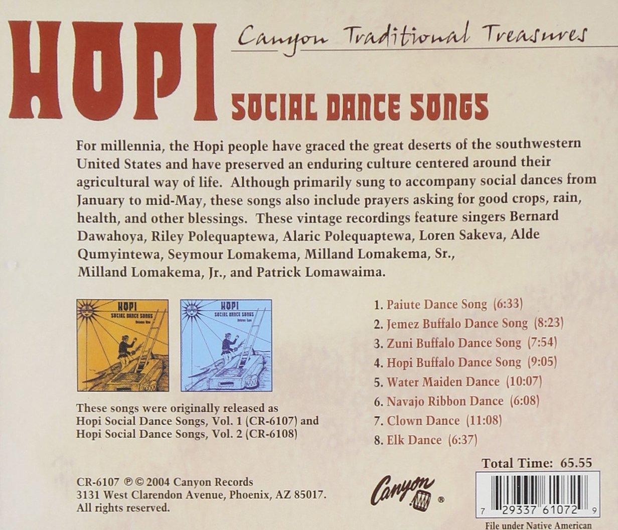 various artists hopi social dance songs amazon com music