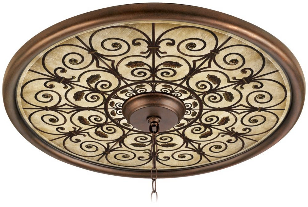 Madrid Clay 24'' Wide Bronze Finish Ceiling Medallion