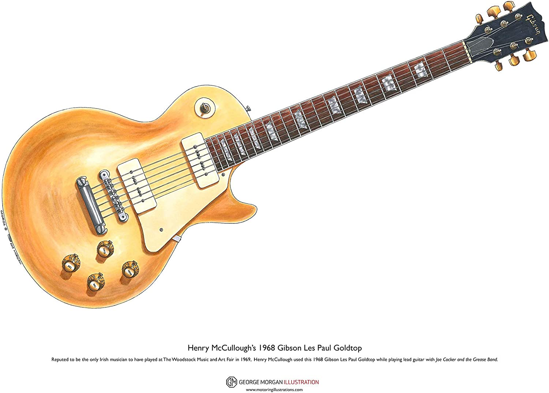 George Morgan Illustration Guitarra Gibson Les Paul Goldtop de ...