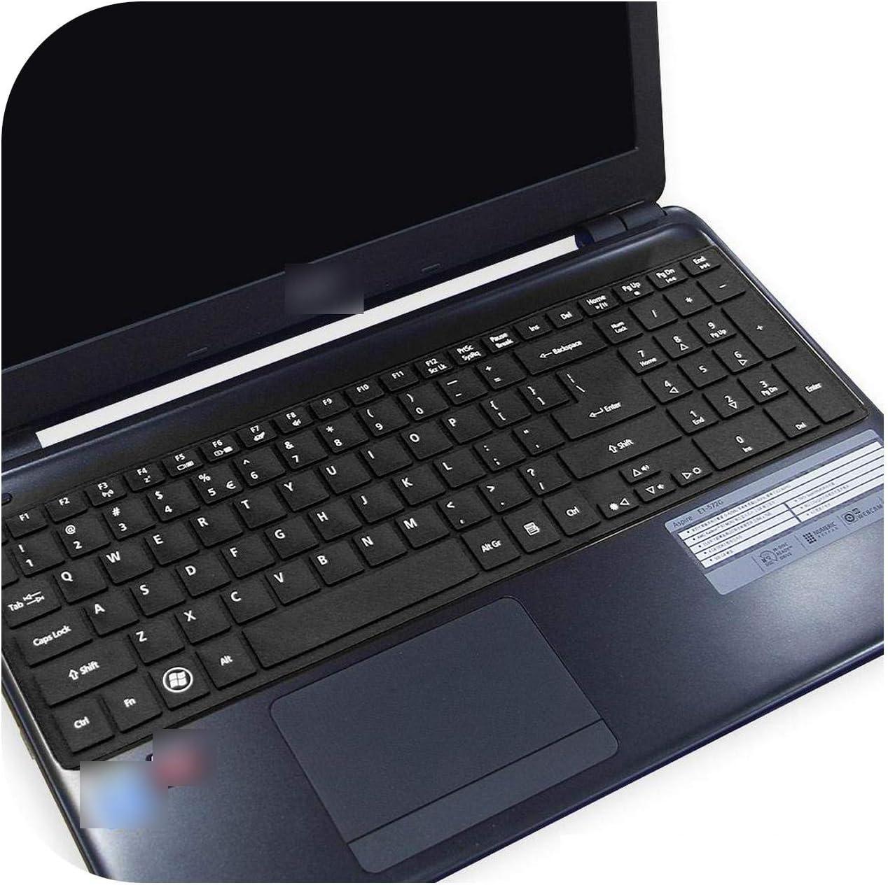 15 Inch Ultra Thin Keyboard Cover Protector Skin for Acer Aspire E5 521 E5 521G E5 551 E5 551G E5 571 E5 571G V5 561 V5 561Pg-Allblack-