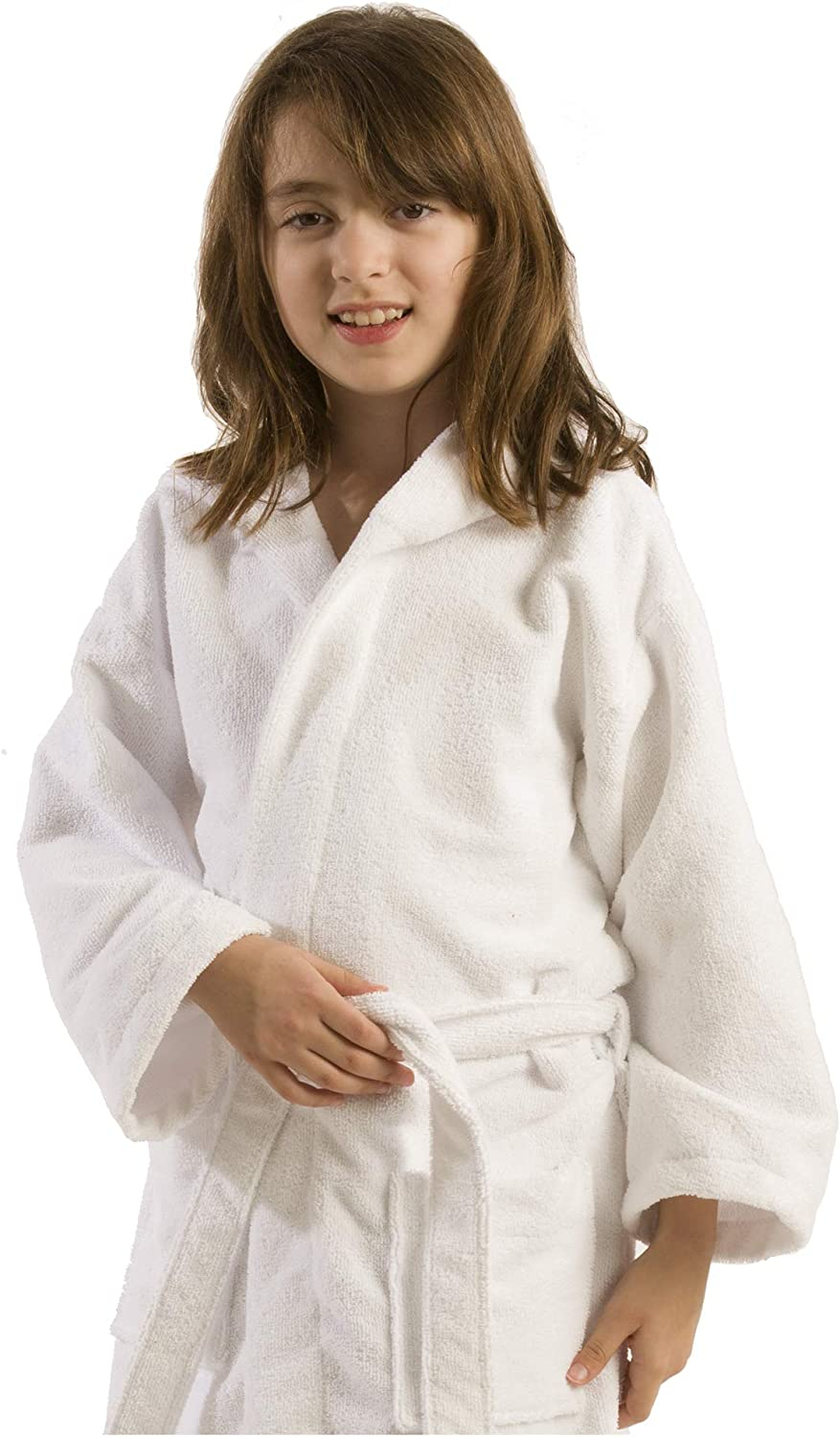 Size Small Purple Robe BY LORA Terry Hooded Bathrobe for Girls and Boys