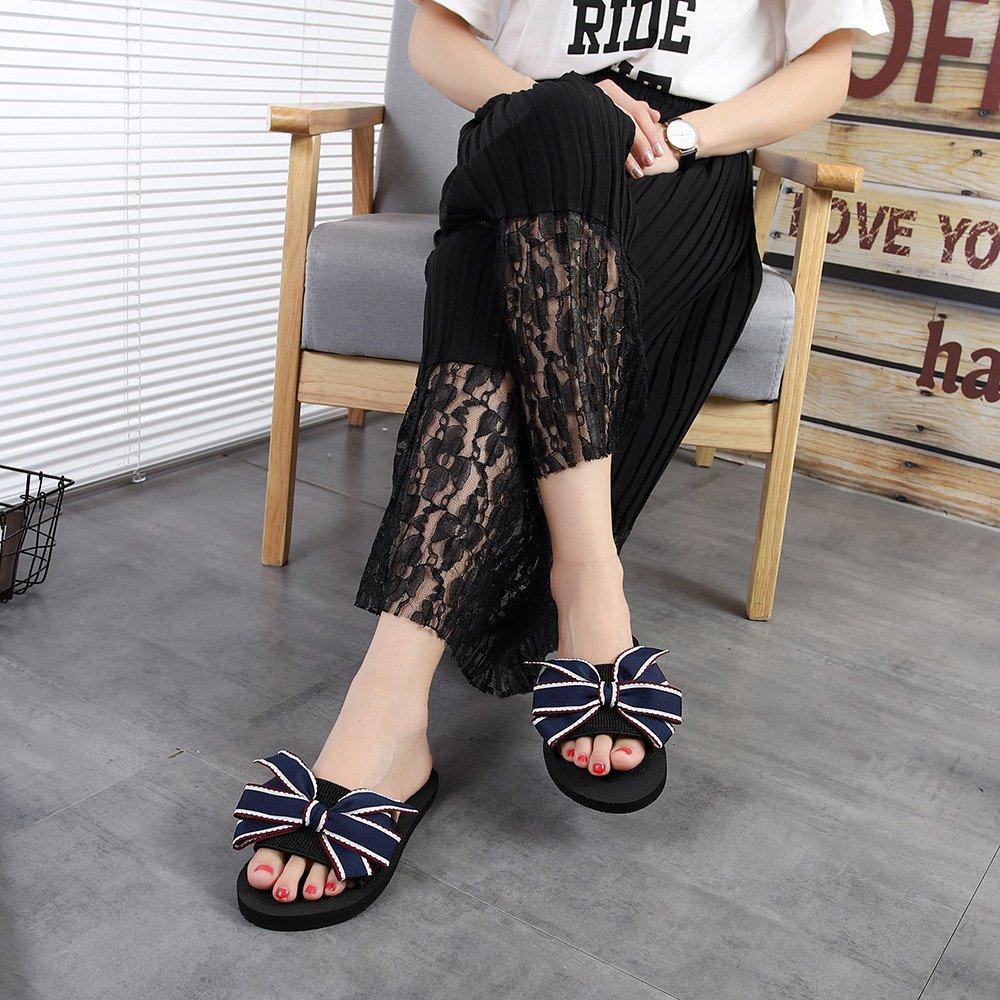 Chancletas Piscina Mujer,YiYLinneo Arco De Las Mujeres Chanclas Sandalias De Verano Zapatilla De Interior Flip-Flop Al Aire Libre Zapatos De Playa: ...