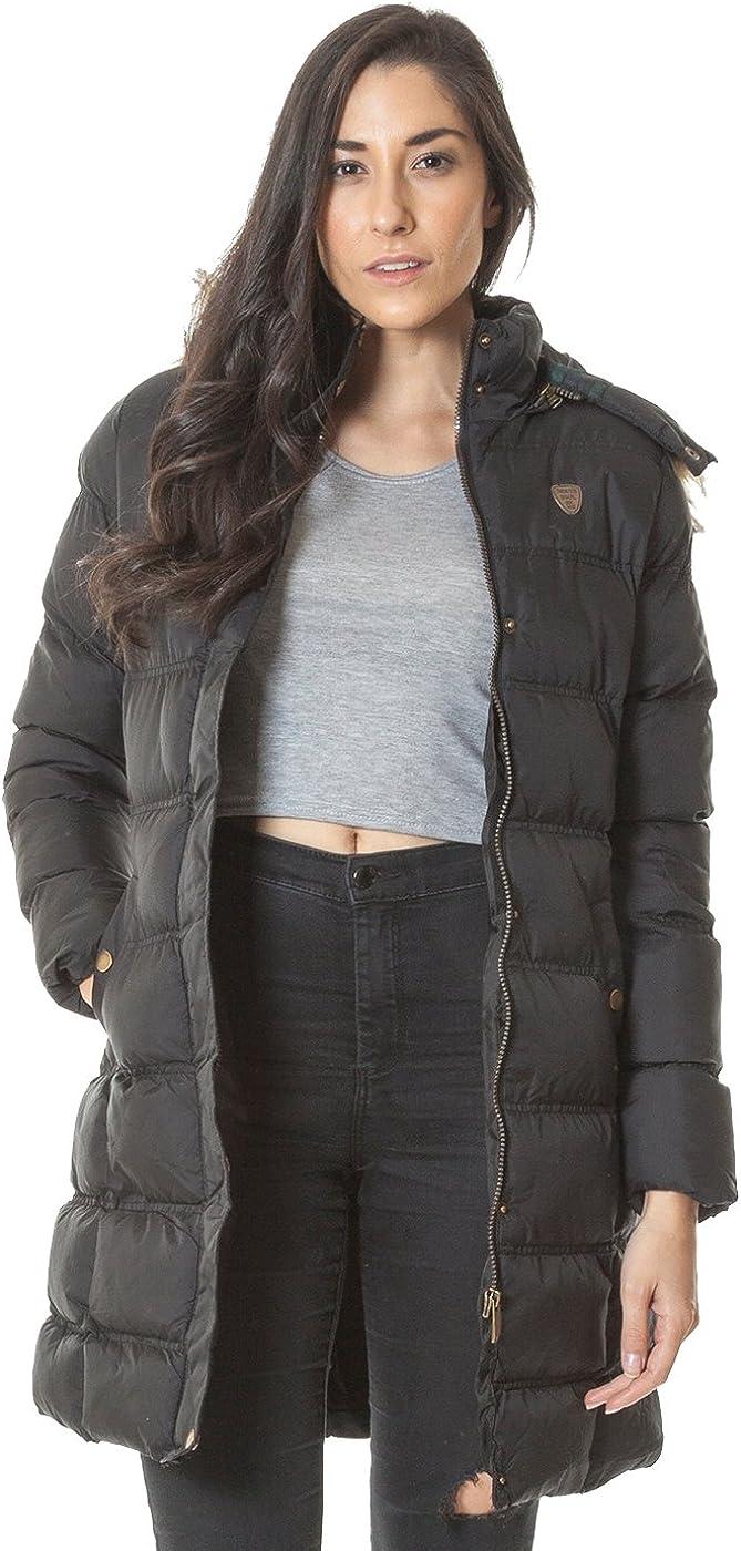 Womens Jacket Ladies Faux Fur Brave Soul Hoodie Padded Zip Up Causal Long Sleeve