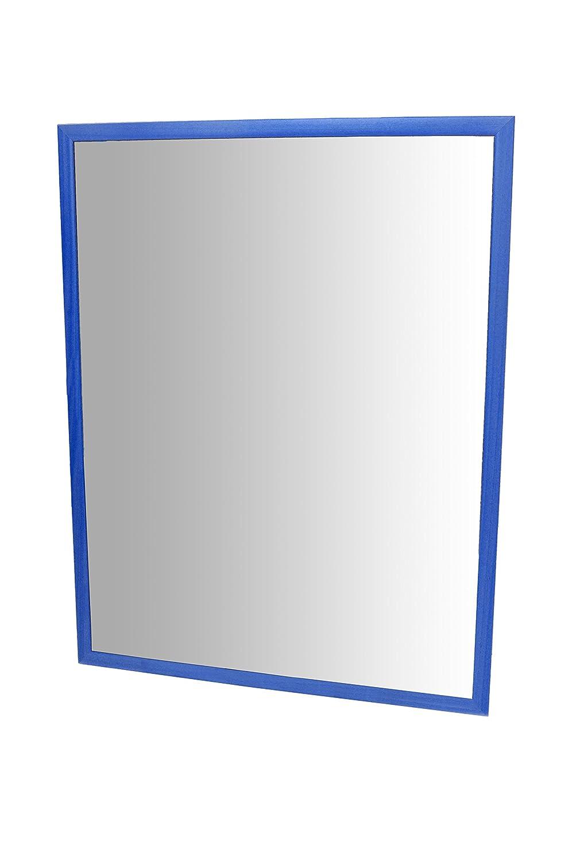 HenBea 755-A2 Miroir Incassable avec Cadre Plastique Bleu 104 x 69 cm