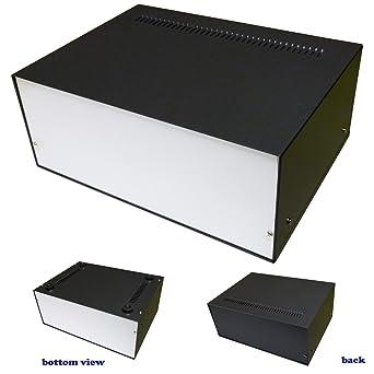 Caja de aluminio para proyectos de escritorio, 270 x 200 x 110 mm ...