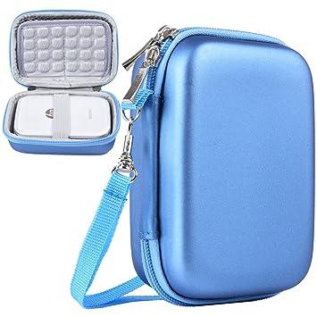 Katia HP Sprocket Funda para HP Sprocket Impresora portátil de Fotos/Polaroid Zip Impresora portátil Bolsa de protección,Azul