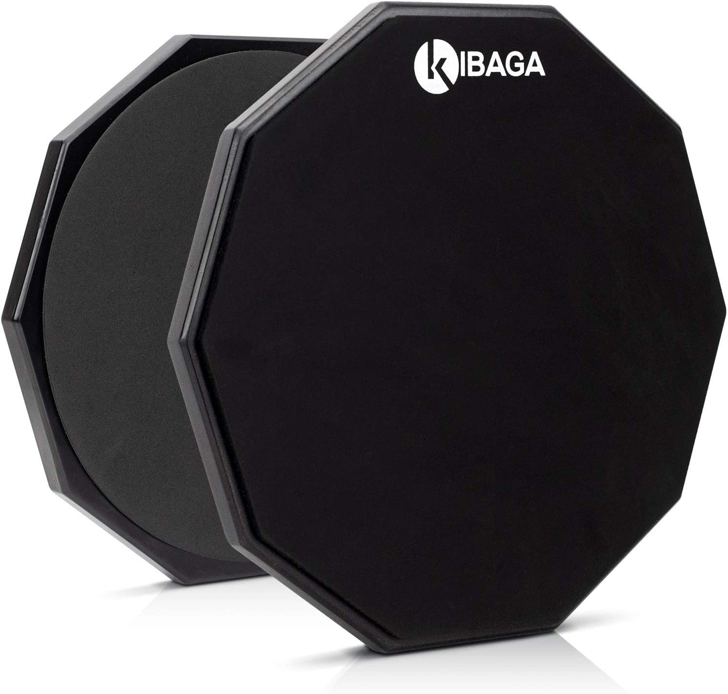 Double Sided Drum Pad 12 inches - Silent Drum Practice Pad Provides A Great Rebound - Perfect Snare Drum Pad For Quiet
