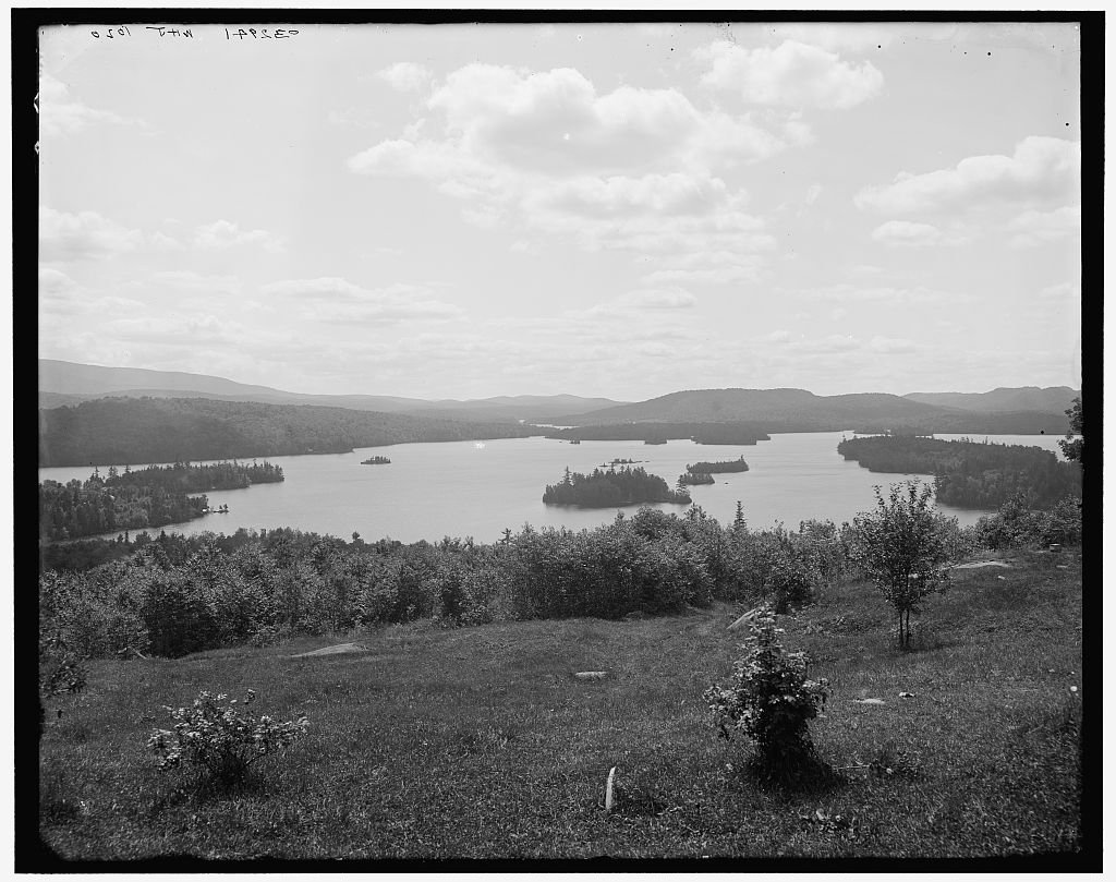 Vintography 8 x 10 Ready to Frame Pro Photo of Adirondack Carry Adirondack MTS N Y 1905 Detriot Publishing 64a