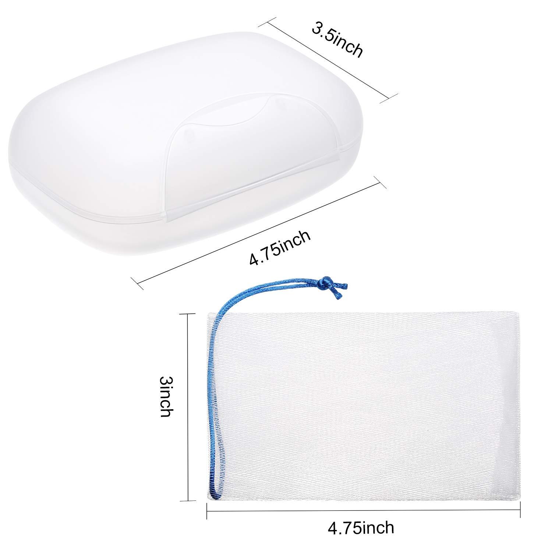 PORTA SAPONE MADELEINE bianco scatola di sapone porcellanato per appendere 16 cm