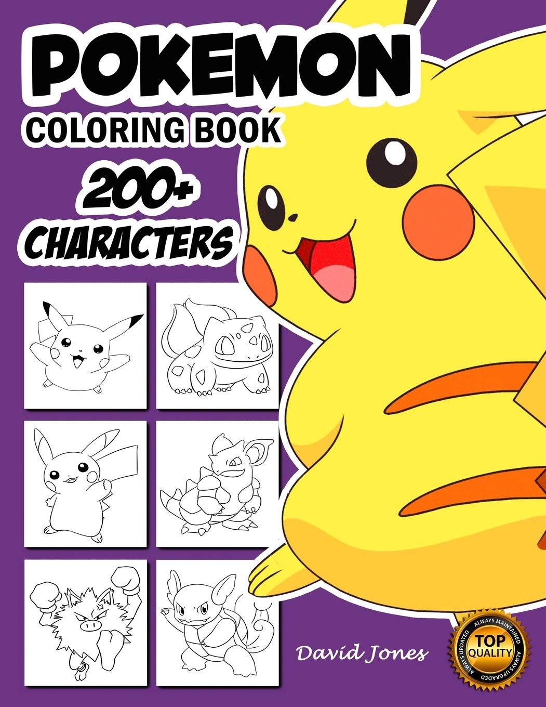 Amazon.com Pokemon Coloring Book 30+ Pokemon Characters Pikachu ...
