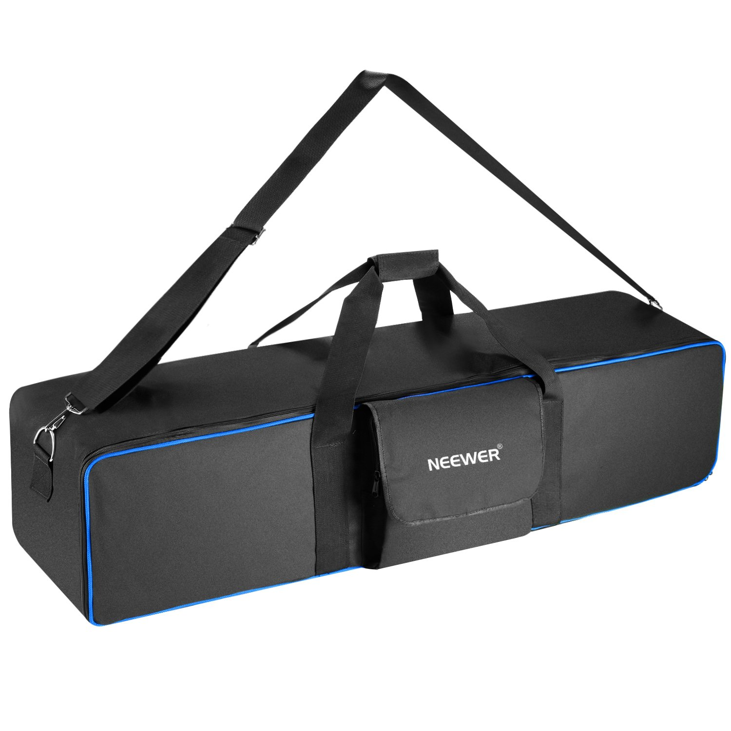 Neewer Large Photo Studio Lighting Equipment Carrying Bag 41.3x9.84x9.84inches with Shoulder Strap and Handle for Light Stand, Tripod, Umbrella, Monolight, LED Light, Flash and Other Accessories (Blue) 10092352
