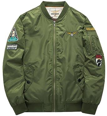 Fashciaga Men's U.S. Air Force Bomber Flight Jacket at Amazon ...