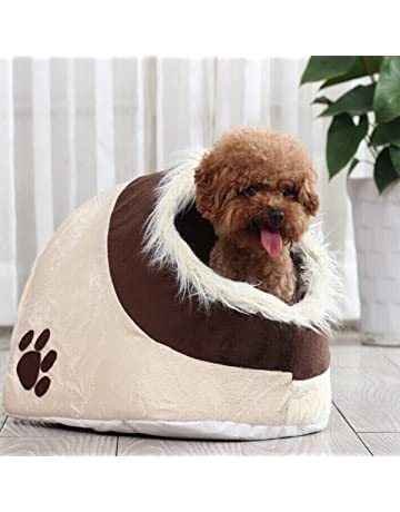 LA VIE Casa Adorable para Mascotas Pequeñas Cesta Lavable para Cachorros Cueva Hideout para Gatos Cama