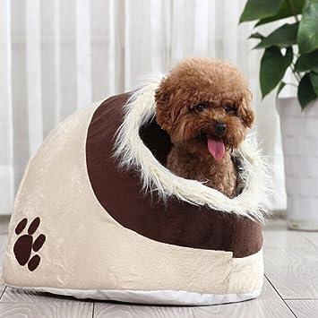 LA VIE Casa Adorable para Mascotas Pequeñas Cesta Lavable para Cachorros Cueva Hideout para Gatos Cama Nido Suave Acogedor para Otras Animales Pequeños ...