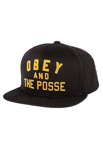d54c25228db Amazon.com  Obey Men s Obey   the Posse Snapback One Size Black ...