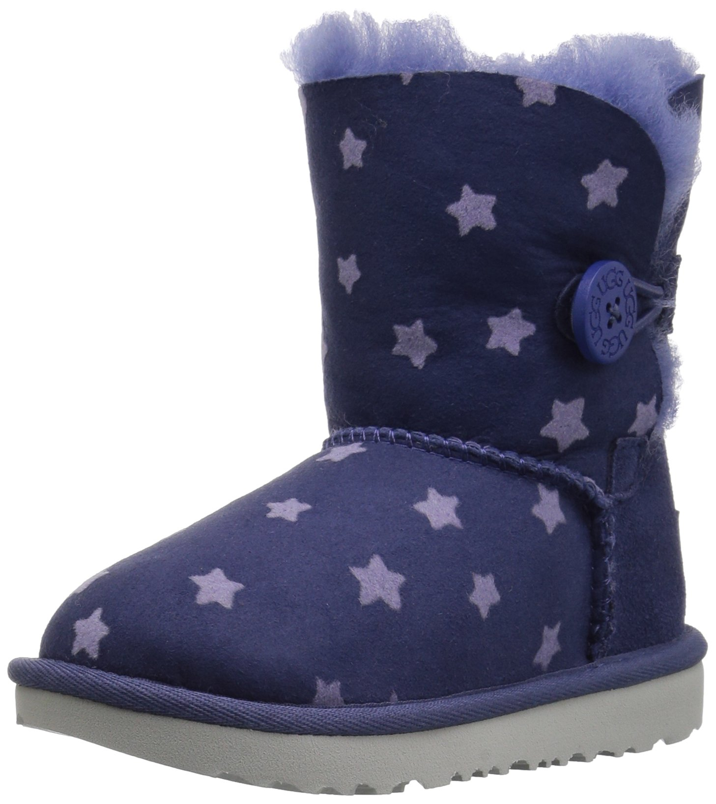 UGG Girls T Bailey Button II Stars Pull-On Boot, Nocturn, 6 M US Toddler