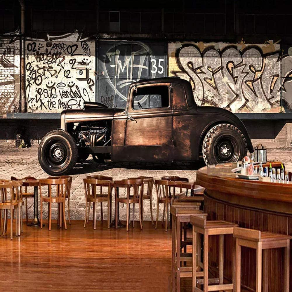 Papier peint photo Voiture ancienne 150x105 cm intiss/é Poster Tableaux moderne D/écoration Murale Chambre /à coucher Couloir maison La d/écoration