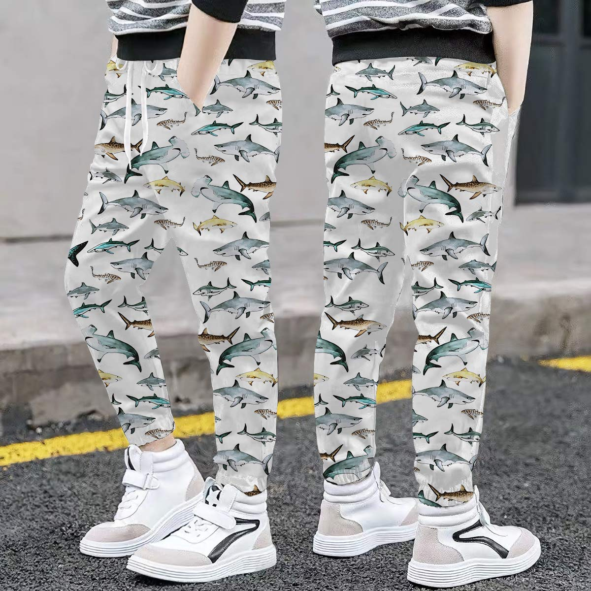 Ahegao Boys Girls Fleece Pants with Pocket Long Sweatpants 3D Printed Drawstring Trousers 6-16 Years Old