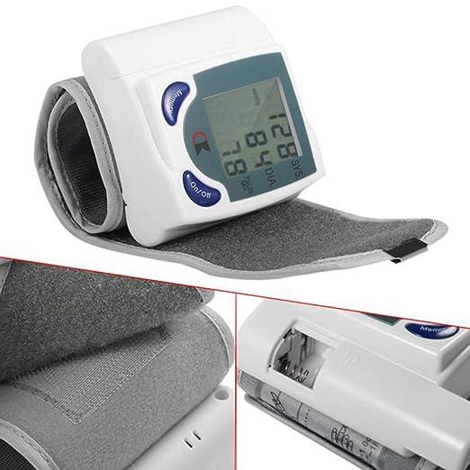 Lychee LCD digital de muñeca monitor de presión arterial latido del corazón del medidor de memoria 60: Amazon.es: Salud y cuidado personal