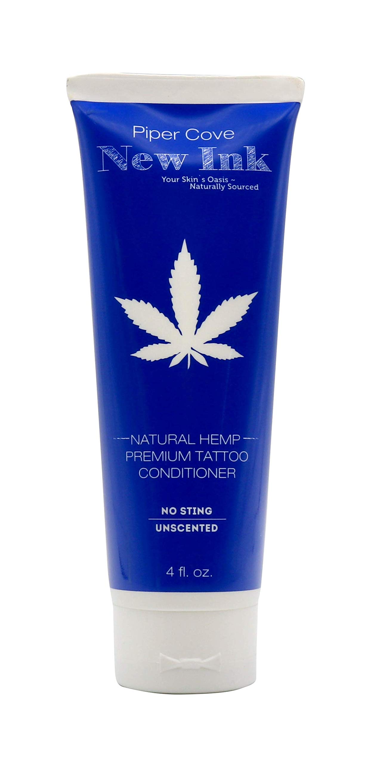 PREMIUM TATTOO LOTION CONDITIONER NEW INK - Before and Aftercare Moisturizer, Organic Shea, Cocoa and Mango Butters and Hempseed Oil, 4 oz. (Natural Hemp) - Piper Cove by Piper Cove
