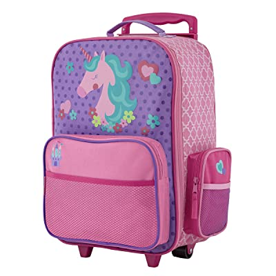 Stephen Joseph Kids' Little Girls Classic Rolling Luggage, Unicorn, One Size: Clothing
