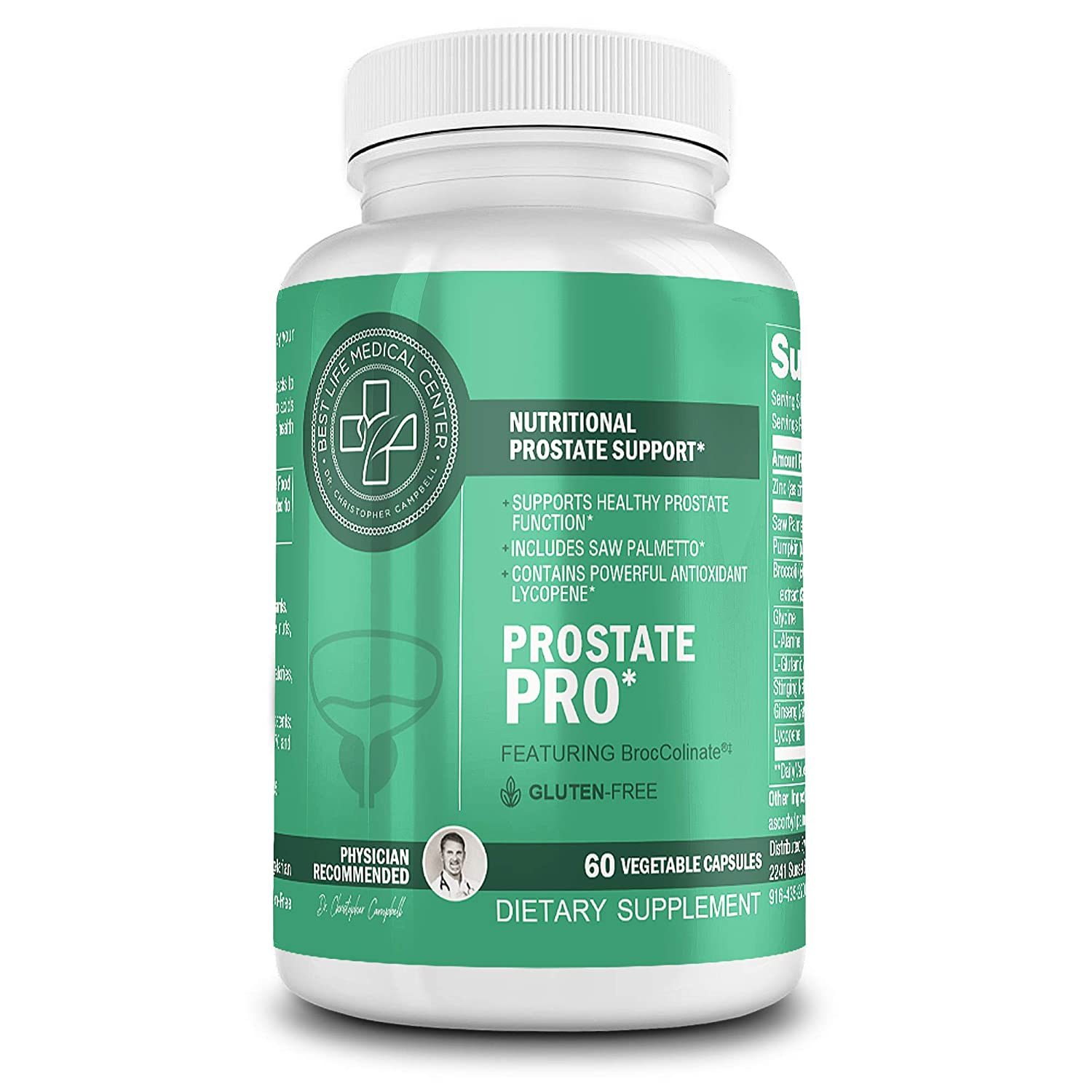 Prostate Pro Men s Urinary Health Supplement DHT and Estrogen Blocker with Saw Palmetto BrocColinate Best Life Medical Center