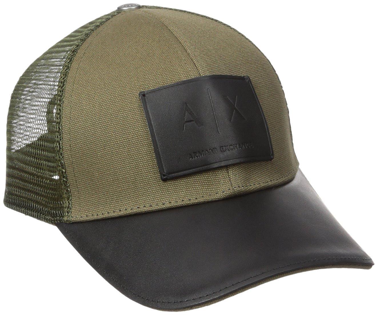 a6a23e5ccb3 Amazon.com  Armani Exchange Men s Logo Patch Mesh Baseball Hat ...