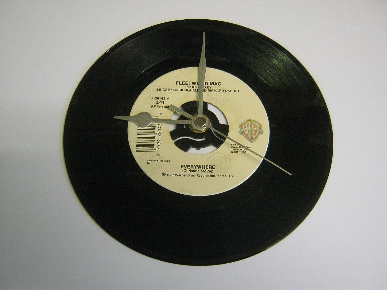 Everywhere 7 Vinyl Record Wall Clock Fleetwood Mac
