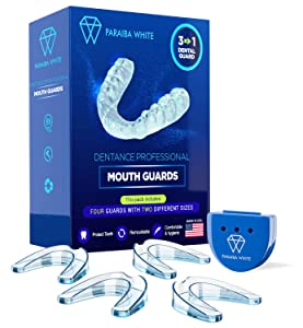 Dentance Professional Dental Guards – Set of 4 Made In USA - Custom Fit - BPA Free - Perfect Dental Guards for Teeth Grinding and Sport Athletes - Regular and Heavy Duty protection - Teeth Whitening