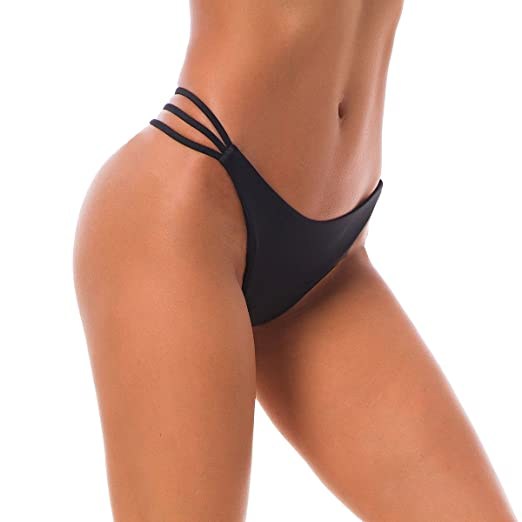 9d6d118a723 Amazon.com  Sexy Women s Bikini Bottoms Bandage Thong