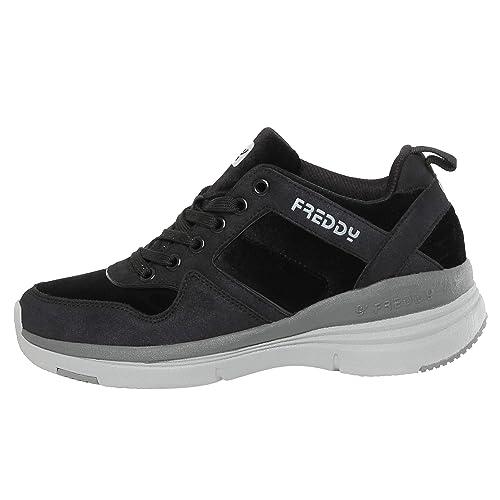 06b82e6029 Sneakers con Tacco Interno di 6 cm in Nabuk