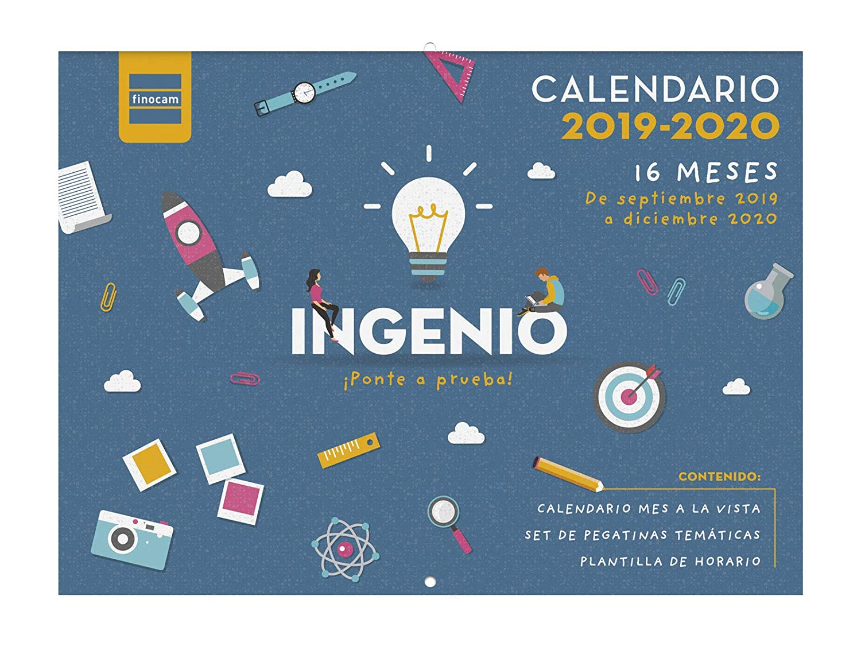 Calendario Academico 2020 16.Calendario De Pared 16 Meses 2019 2020 Espanol Ingenio Finocam