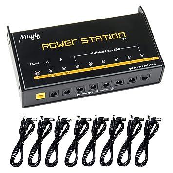 mugig guitarra pedales fuente de alimentación 8 aislado salida para DC 9 V/12 V