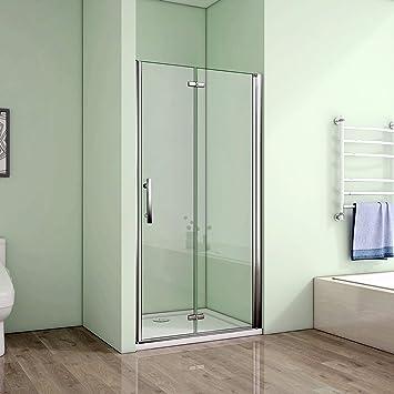 90 x 195 cm Mampara de ducha nichos de puerta puerta falttü Derecho Cristal ducha pared (hp90 – 2 V2 + 1B V2): Amazon.es: Bricolaje y herramientas