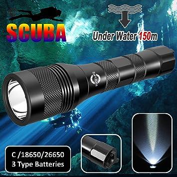 Amazon.com: Tonelife 1000 lúmenes luces de buceo Buceo ...
